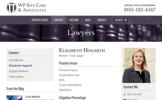 Lawyer Profile Page