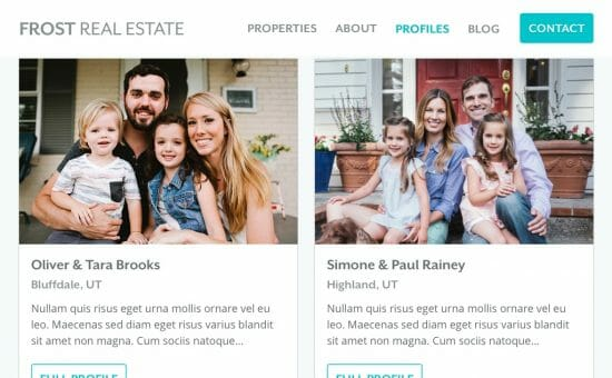 Frost Real Estate Profiles Page