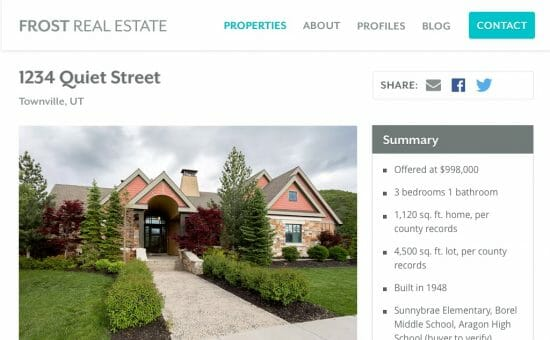 Frost Real Estate Property Page